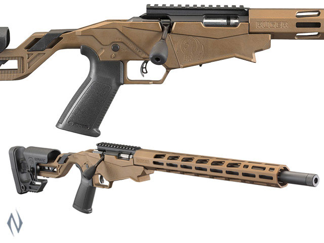 "RUGER PRECISION RIMFIRE RIFLE 22WMR 18"" 9 SHOT BURNT BRONZE Image"